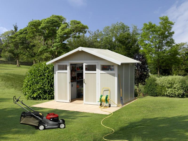 grosfillex linea utility 7 5 garden home casa de jardin ForCasas De Pvc Para Jardin