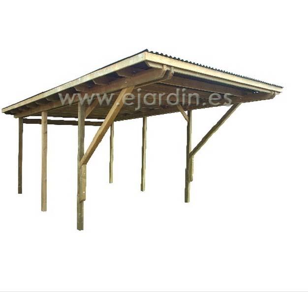 Jarbric carpot parking extra de madera tratada 364 x 554 x 278 28 - Parking de madera ...