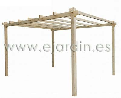 Jarbric kit pergola de madera jardin 2 40 x 2 x 2 m - Postes de madera para pergolas ...