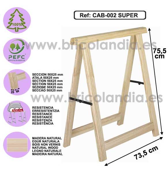 Astigarraga caballete pino reforzado cab 002 - Angulos de madera ...