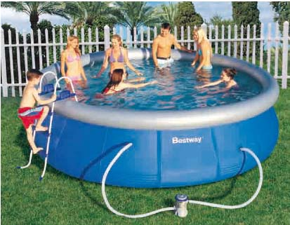 Bestway piscina elevada portatil 457 x 107 57127 for Piscina portatil