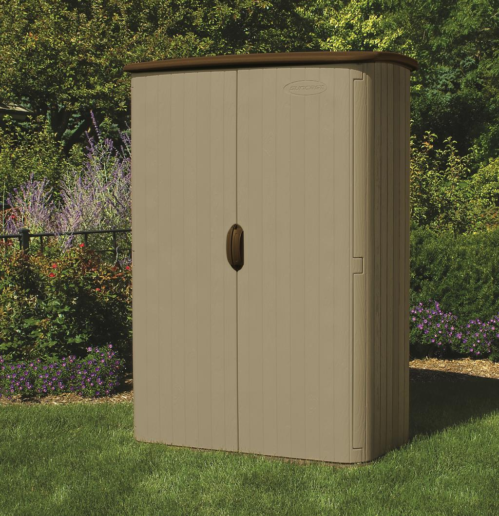 Suncast bms 4500 armario jardin vertical de resina for Armarios de resina para jardin
