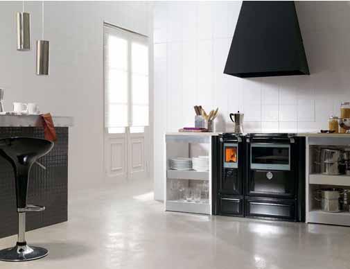 Lacunza vulcano 8 cocina domestica cerrada for Cocina calefactora lacunza