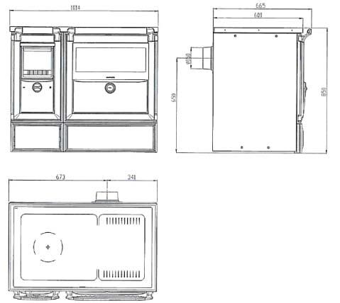 Lacunza vulcano 8 cocina domestica cerrada for Dimensiones cocina