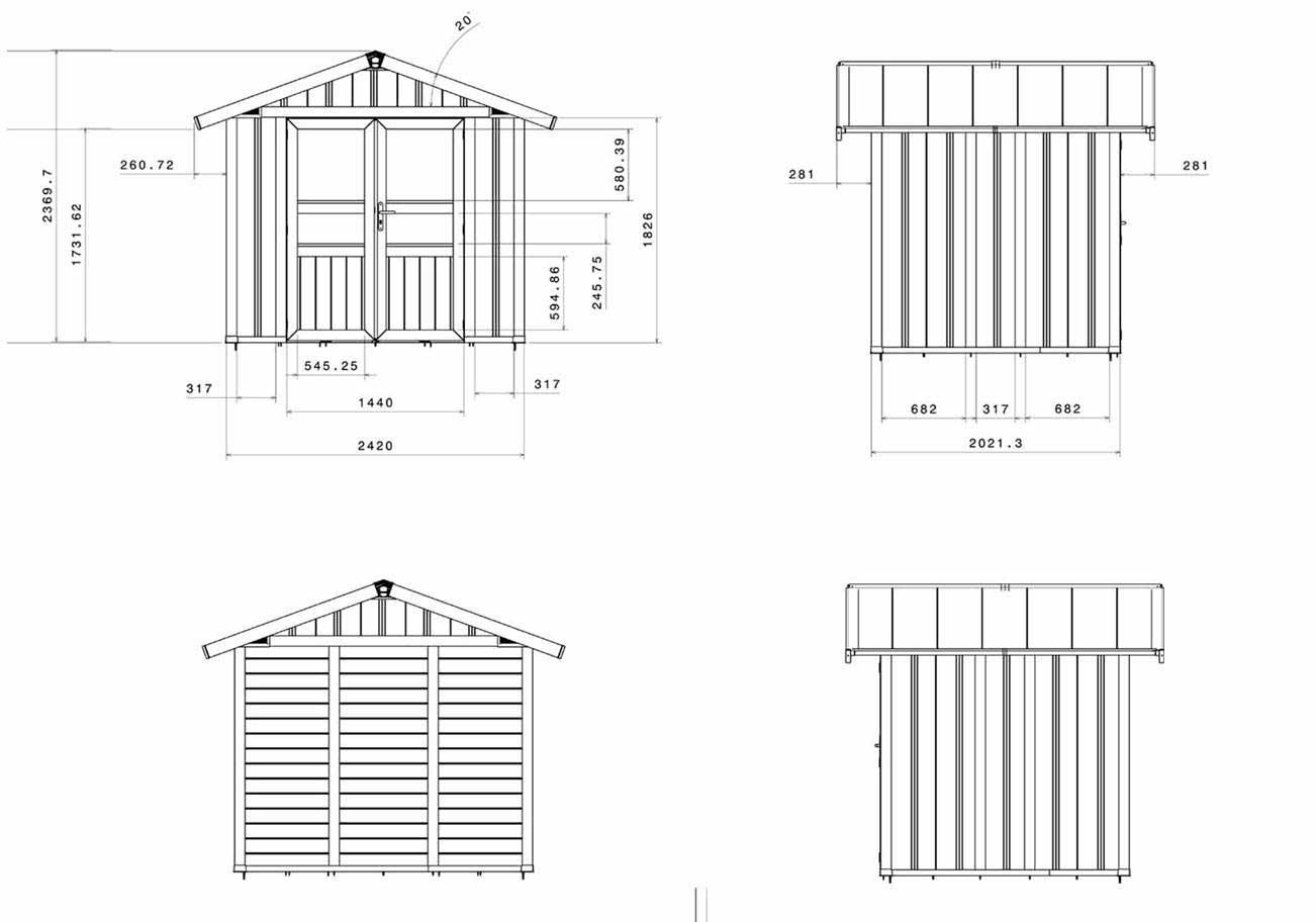 grosfillex casa resina basic line 5 – 4,90 m2