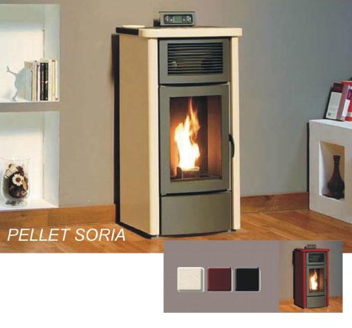 Theca estufa de pellet soft soria for Estufas theca precios