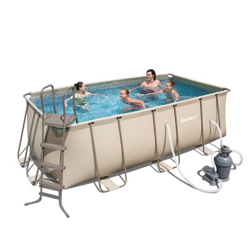 Bestway 56216 piscina tubular 414 x 216 x 122 for Piscina tubular