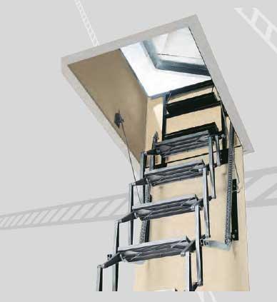 Cies tcha t 130 70 escalera especial de techo azotea - Como hacer una escalera plegable para altillo ...