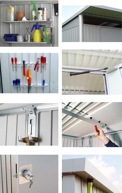biohort avantgarde l caseta jardin 260 220 5 72 m2. Black Bedroom Furniture Sets. Home Design Ideas