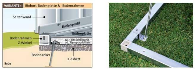 Biohort europa 6 caseta metalica jardin 7 32 m2 244 300 for Casetas de jardin con suelo