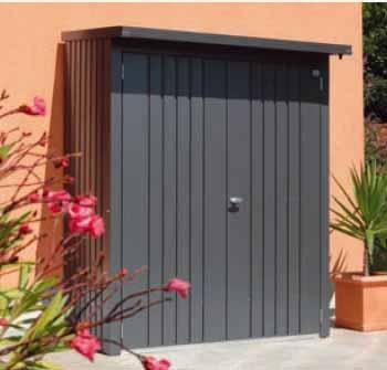 Biohort woodstock 150 cobertizo para le a armario jardin - Armarios de jardin ...