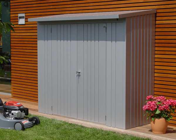 Biohort woodstock 230 cobertizo le ero armario jardin for Casetas metalicas a medida