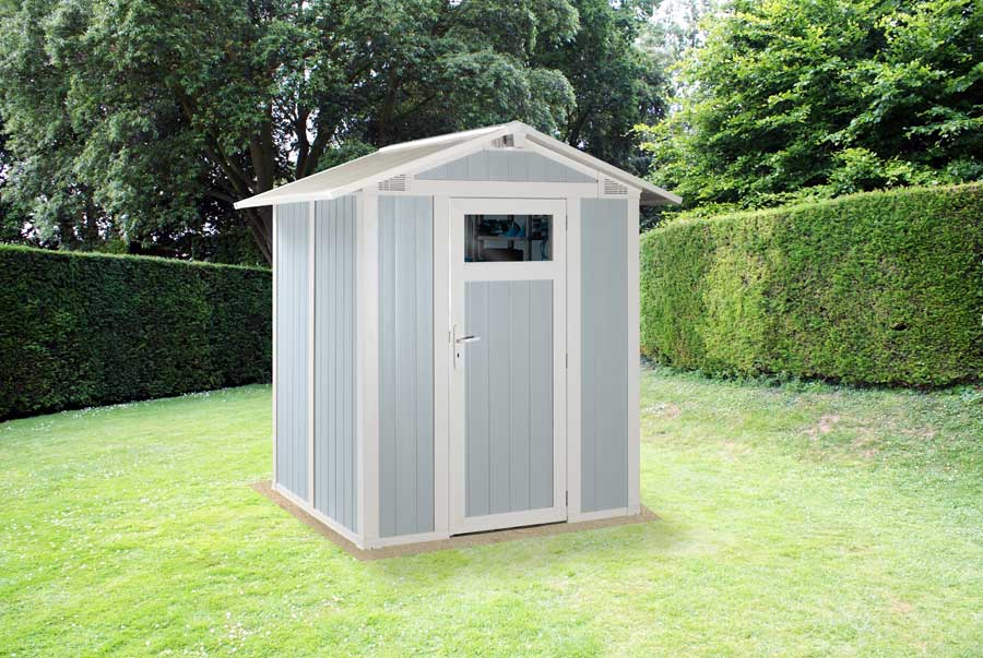 Grosfillex linea utility 3 garden home caseta de jardin for Caseta resina jardin