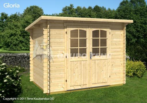 Grupo tene gloria a caseta madera techo plano 290 200 for Choza de jardin de madera techo plano