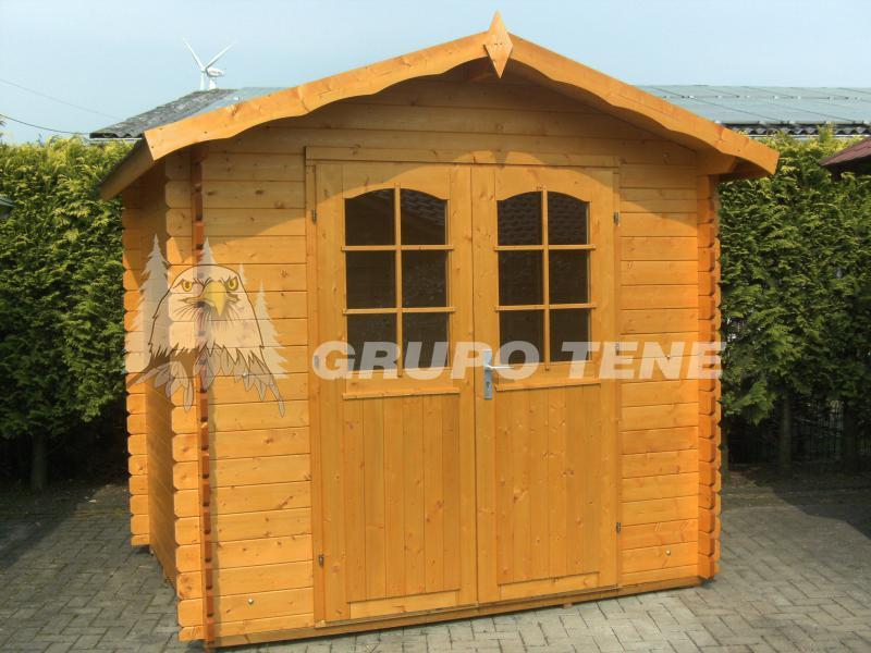 Grupo tene hoby ebro 2 caseta de madera para jardin 300 for Tejados de madera para jardin