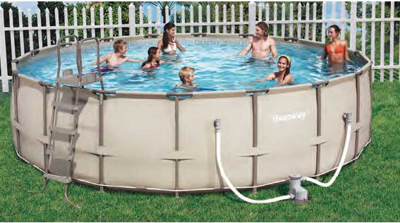 Bestway 56235 piscina redonda sobre suelo 457 122 for Piscina 457 x 122
