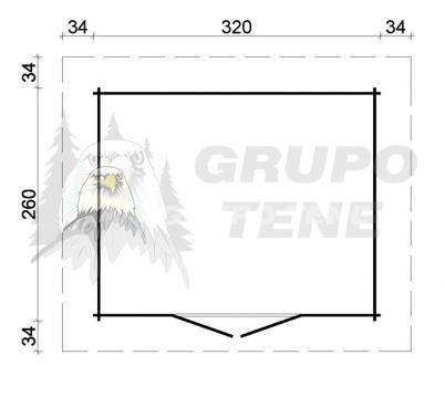 Grupo tene oriental 2 caseta de jardin techo plano 320 for Cobertizo de jardin moderno de techo plano