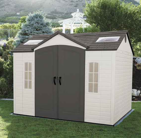 Lifetime 60020 caseta de resina jard n 7 44 m2 for Caseta de resina para jardin