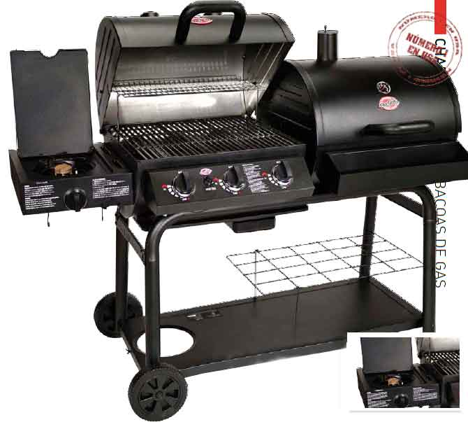 Char griller barbacoa duo de gas y carb n bar5050f Carbon para barbacoa