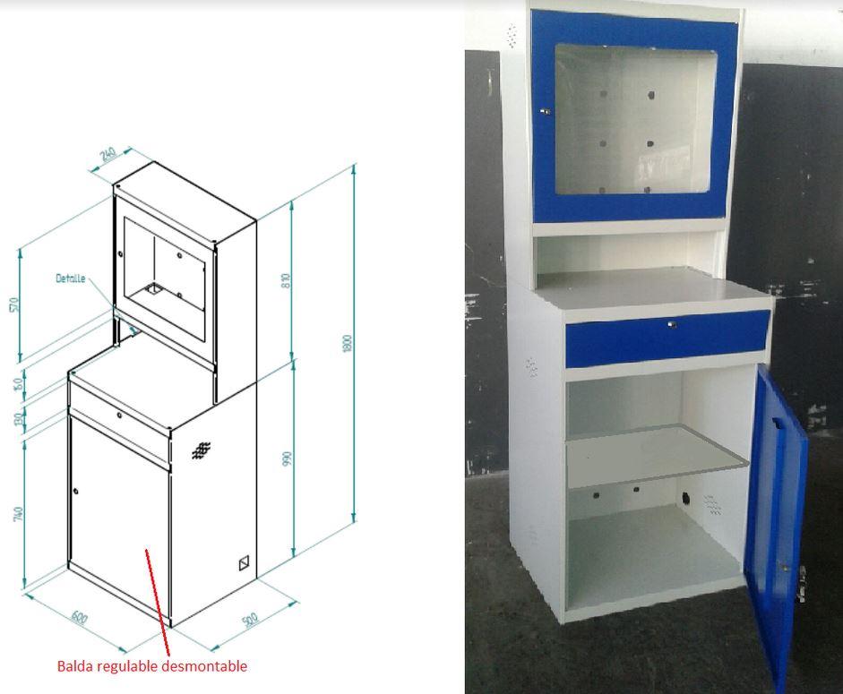 Novodinamica armario mueble para ordenador taller for Muebles para ordenador
