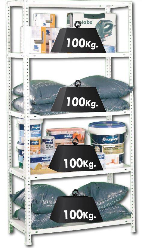 Estantería metálica Kit Confort Simon 5 baldas