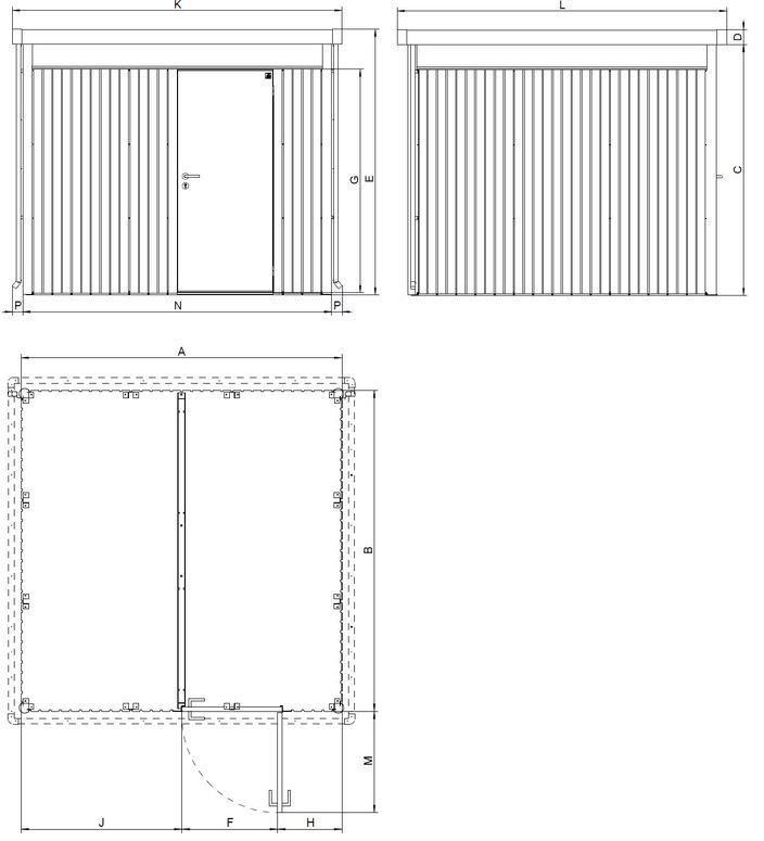 biohort caseta met lica jardin highline h5. Black Bedroom Furniture Sets. Home Design Ideas