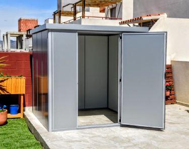 Thermoestank basic b1 caseta prefabricada metalizada 4 16 m2 for Casetas para terrazas