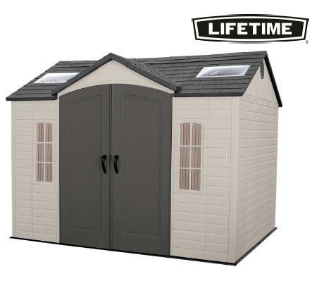 Lifetime 60005 caseta resina jard n 7 44 m2 for Caseta exterior resina