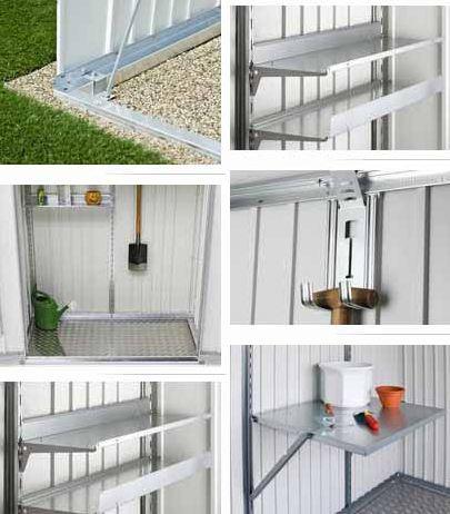 Biohort armario de jardin 230 metalico 227 83 - Armarios para jardin ...