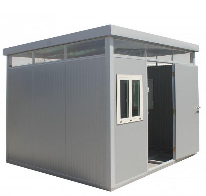 Duramax cabina 3x3 caseta met lica for Casetas de resina para jardin