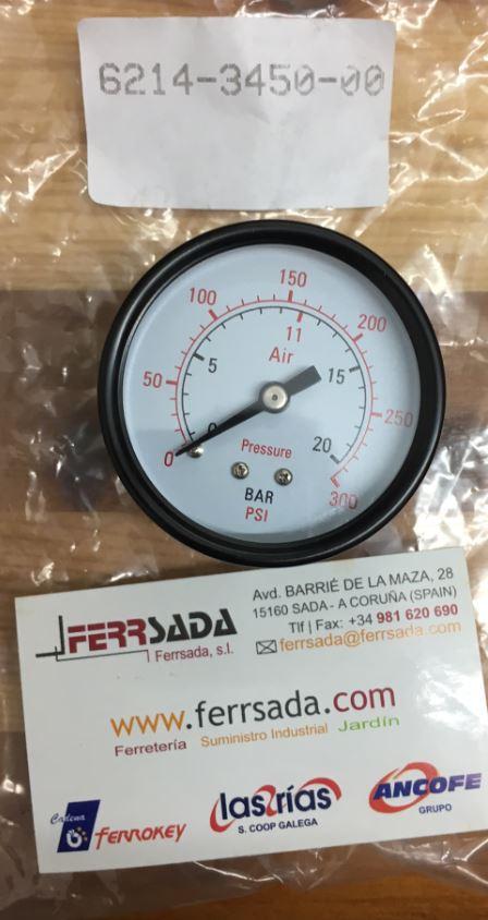 Abac man metro compresor 1 4 m 20 bar 50 mm 6214345000 - Manometro para compresor ...